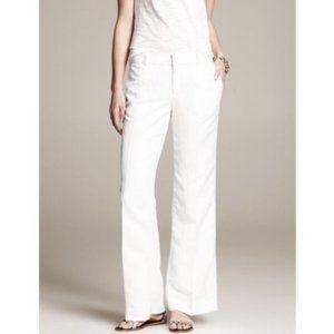 Banana Republic Martin Fit Pants White Size 14